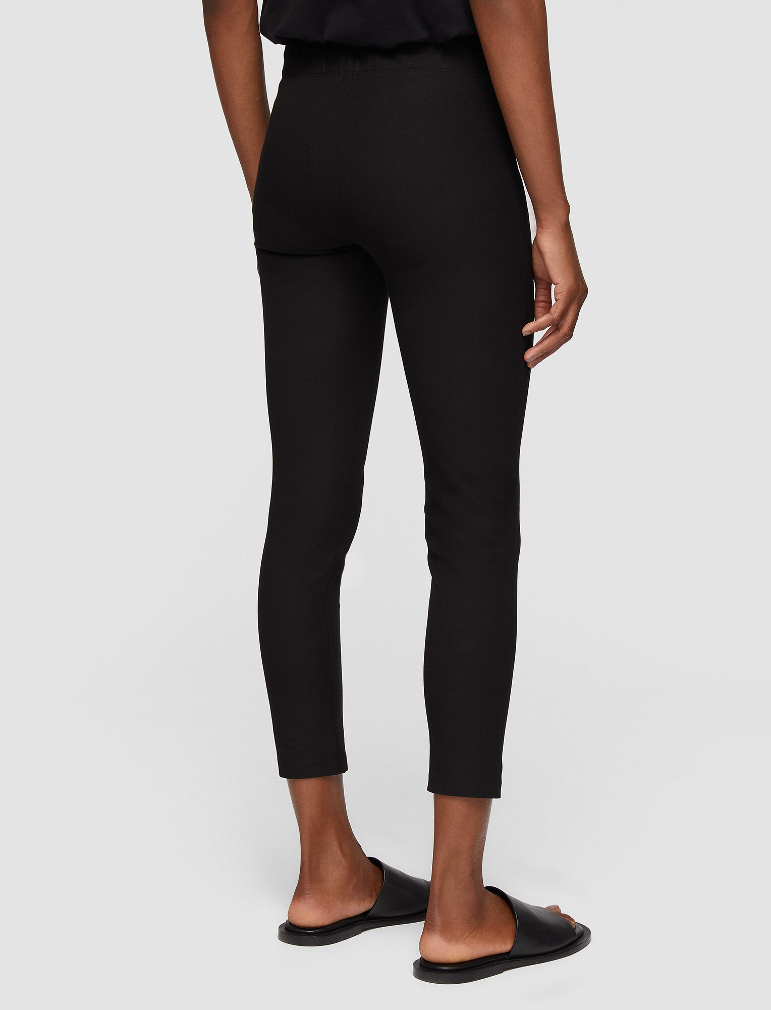 Joseph, Nitro Gabardine Stretch Trousers, in BLACK