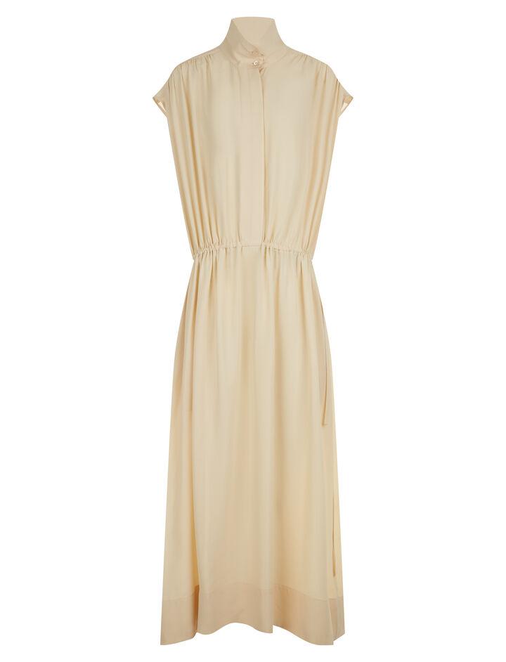 Joseph, Lilou Silk Toile Dress, in BUTTER