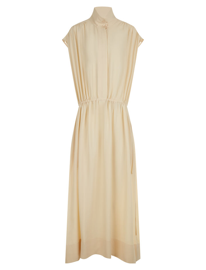 Joseph, Lilou Silk Toile Dress, in BUTTER