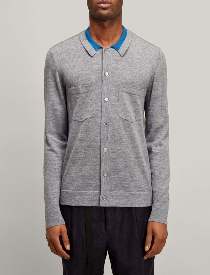 Joseph, Merinos Shirt, in GREY CHINE