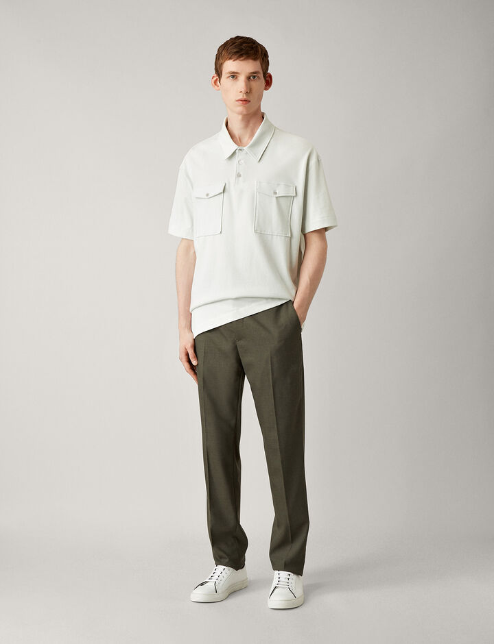 Joseph, Jack-Flannel Stretch, in KHAKI