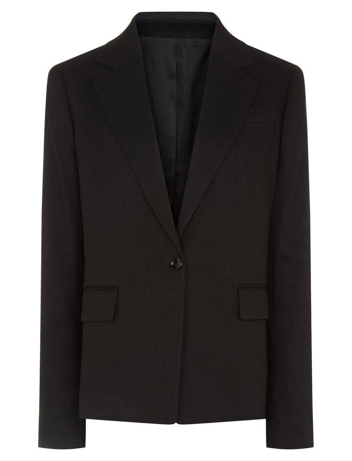 Joseph, New Williams Linen Stretch Jacket, in BLACK