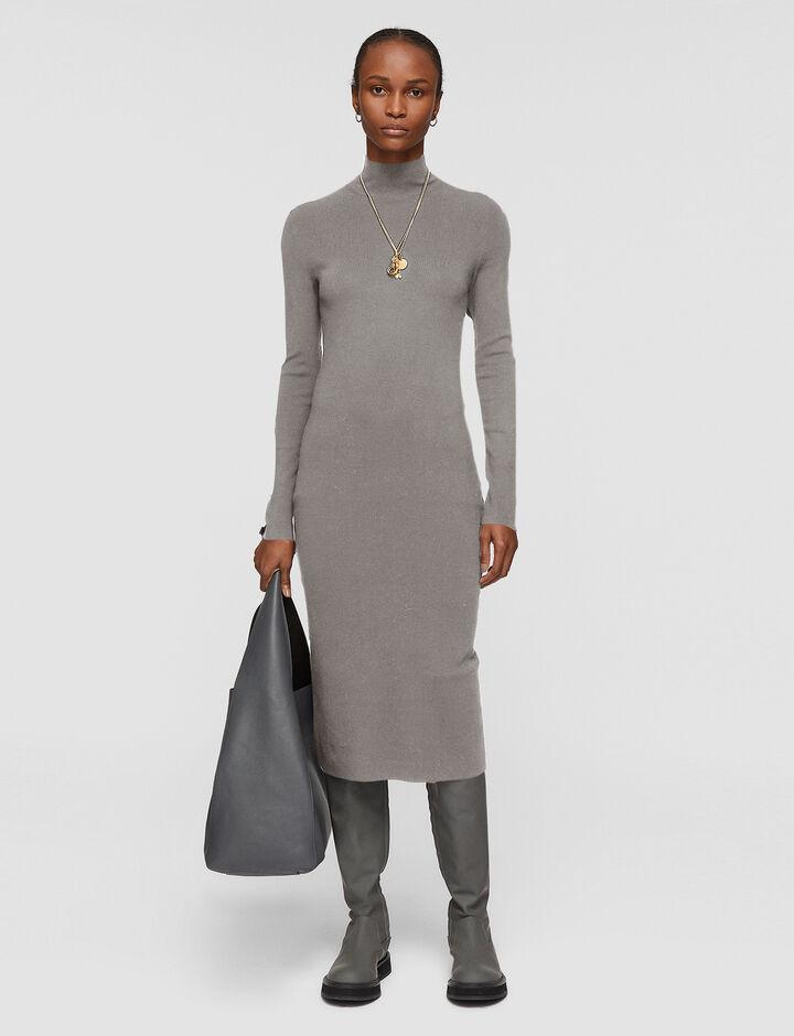 Joseph, Silk Stretch Dress, in SMOKED PEARL