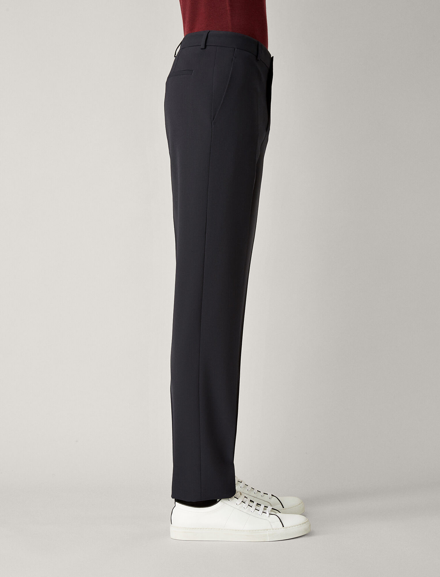 Joseph, Pantalon Jack en laine techno stretch, in NAVY