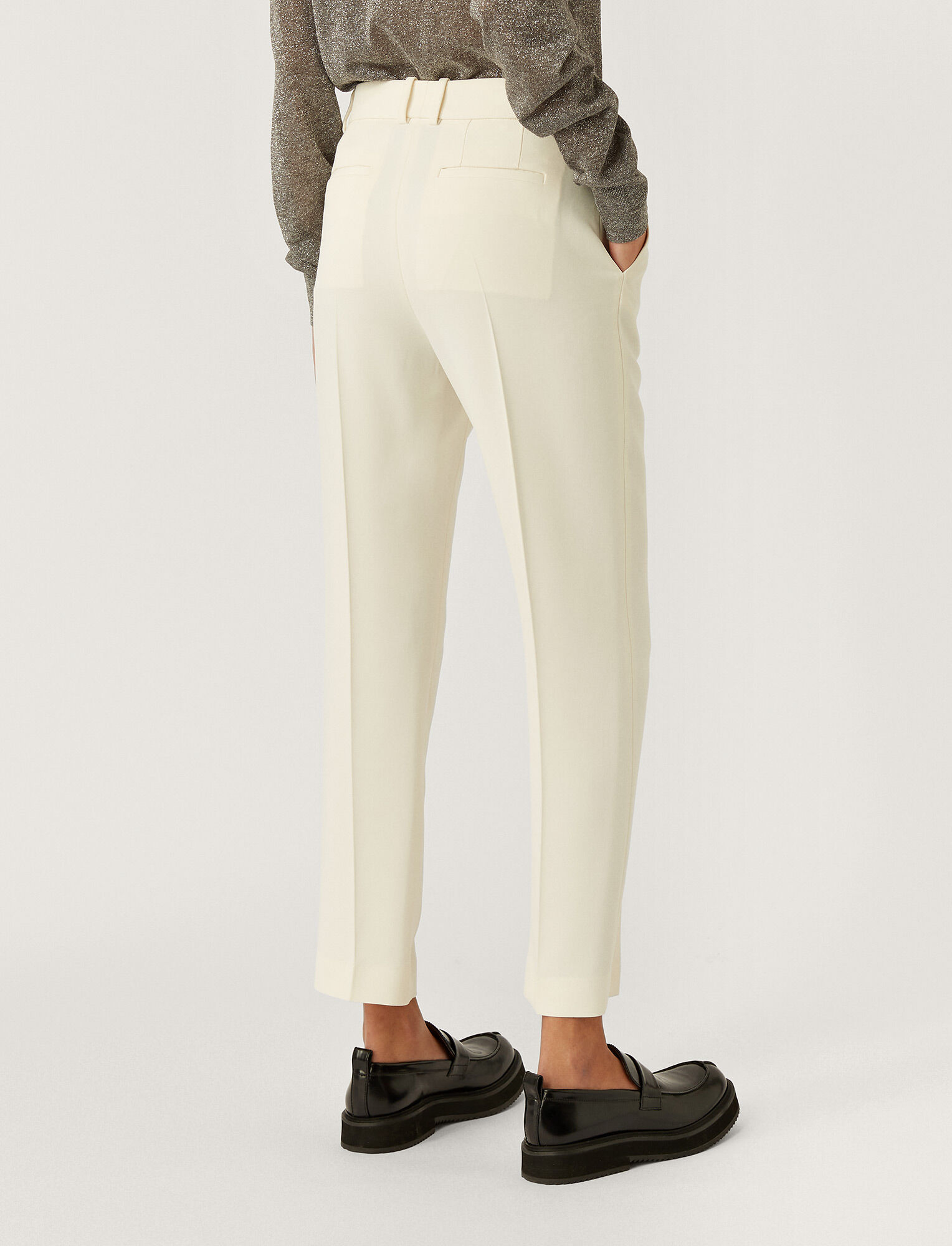 Joseph, New Cady Tape Trousers, in OFF WHITE