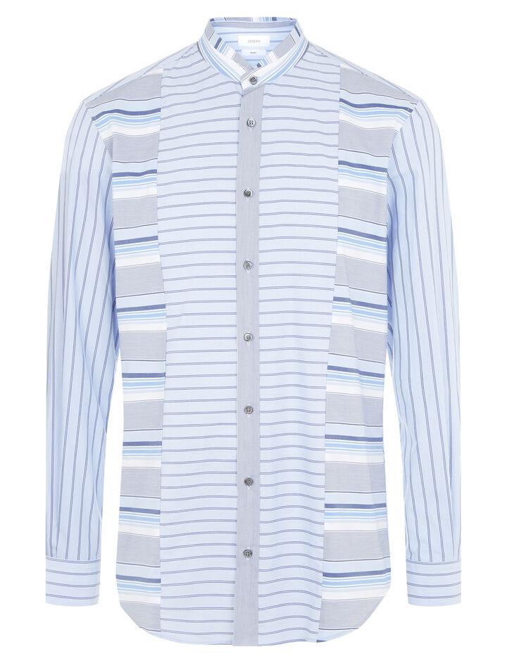 Joseph, Mentone Mix Colours Stripes Shirt, in BLUE