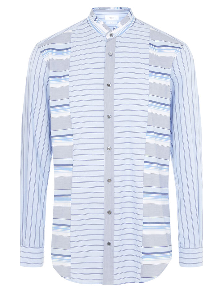 Joseph, Mentone Mix Colours Stripes Shirt, in BLUE
