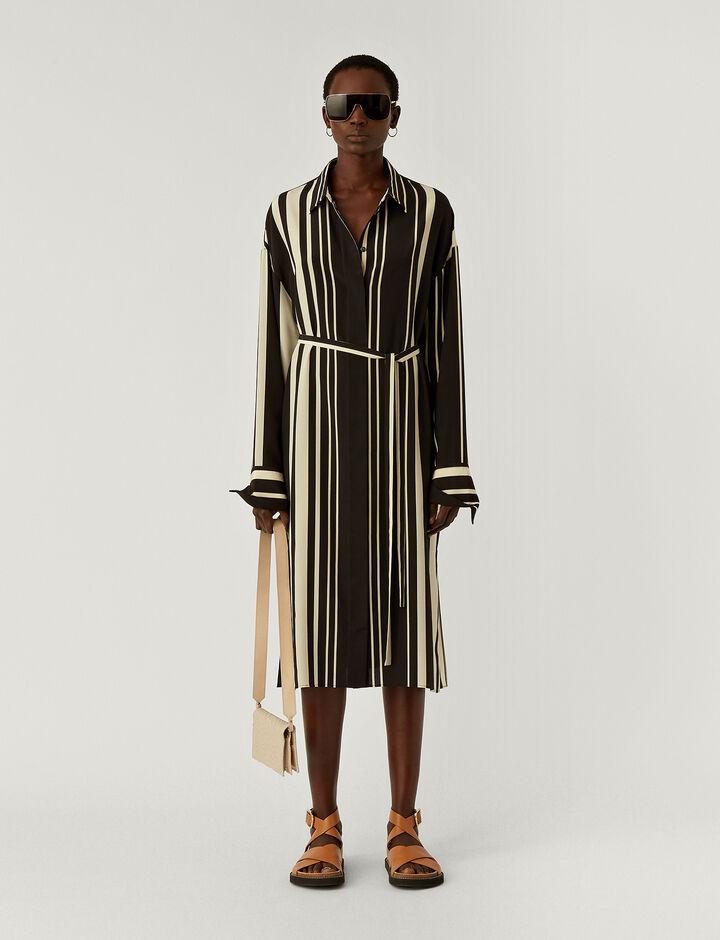 Joseph, Duras-Silk Stripes, in GREY/BLACK