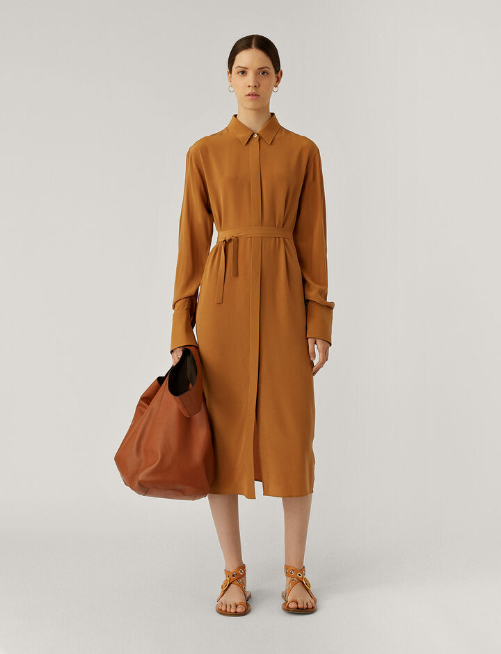 Joseph, Dold Cdc Dresses, in Cognac