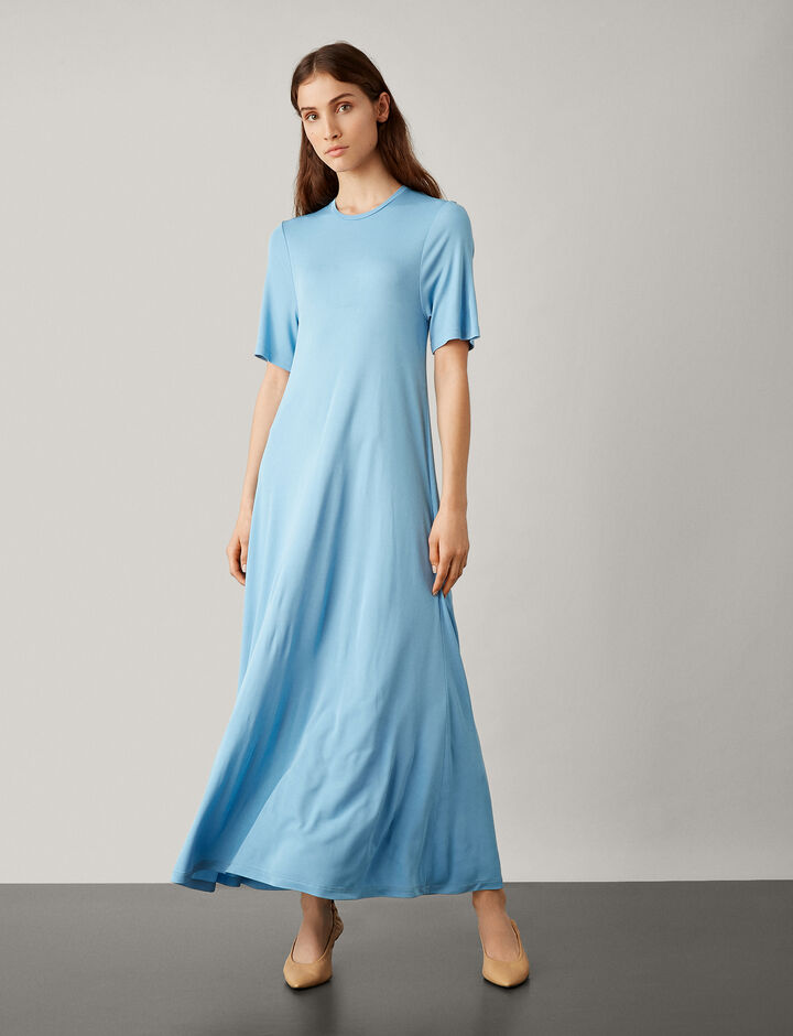 Joseph, Leila Crepe Jersey Dress, in CIEL