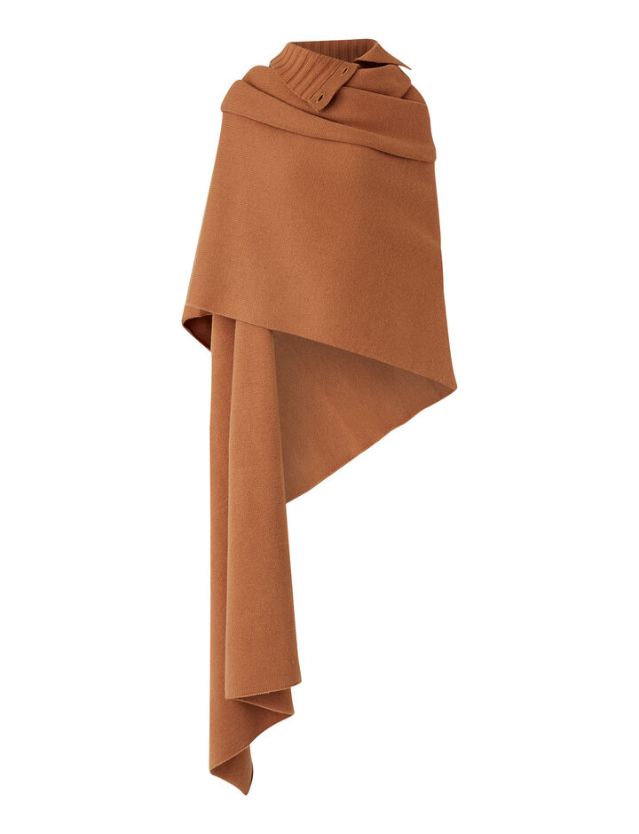 Joseph, Snood Scarf Soft Wool Scarf, in Cognac