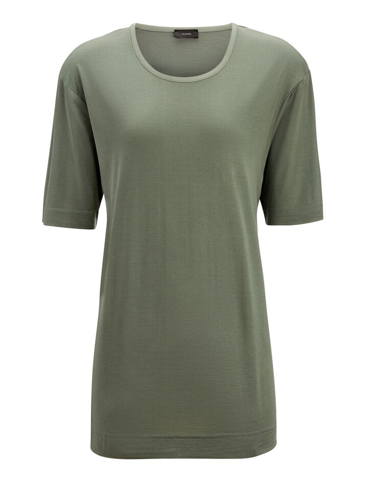 Joseph, Silk Jersey Tee, in LIGHT CLOVER