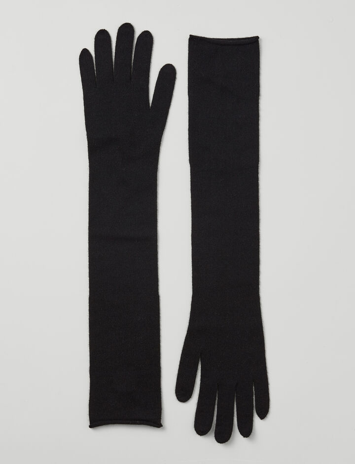 Joseph, Mongolian Cashmere Gloves, in BLACK