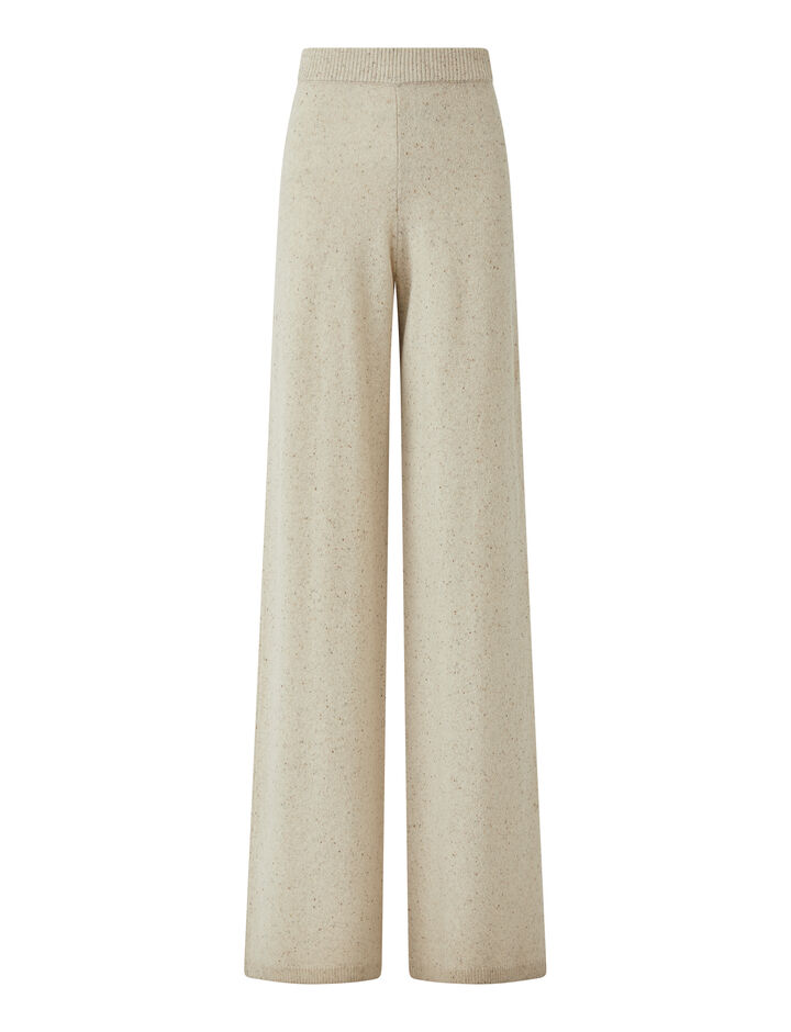 Joseph, Tweed Knit Trousers, in SANDSHELL