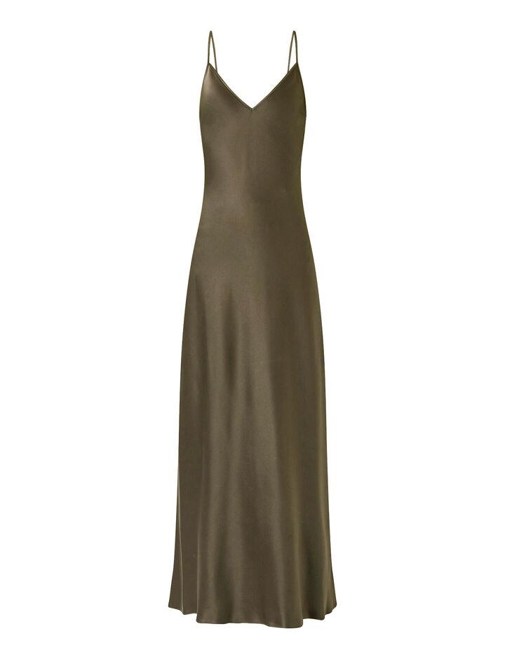 Joseph, Silk Satin Clea Dress, in ELM