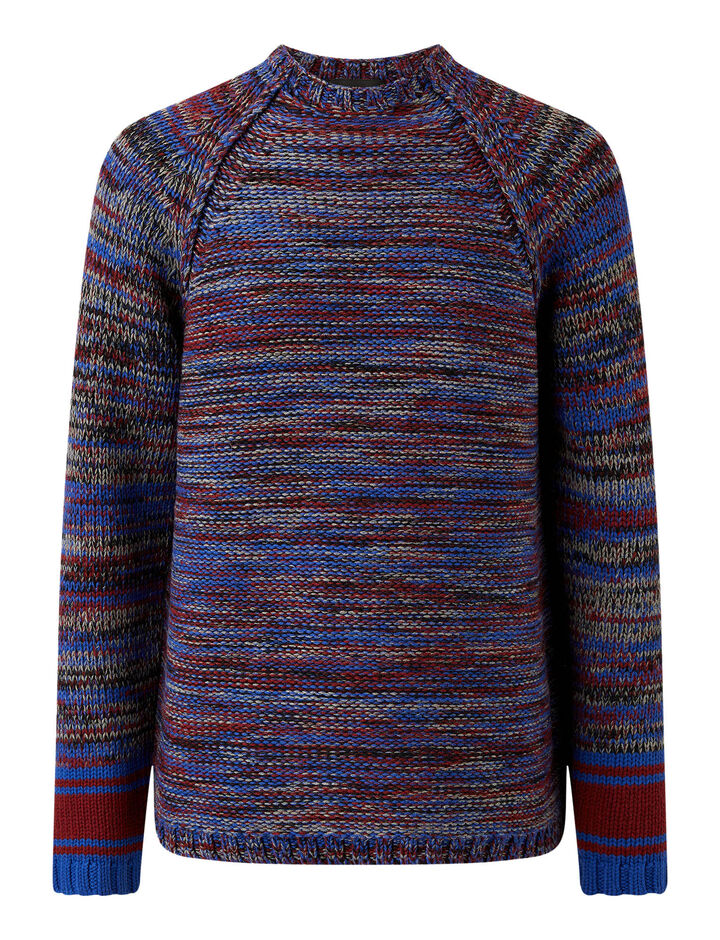 Joseph, O'Size Sweater Chunky Mouline Knit, in BLUE COMBO