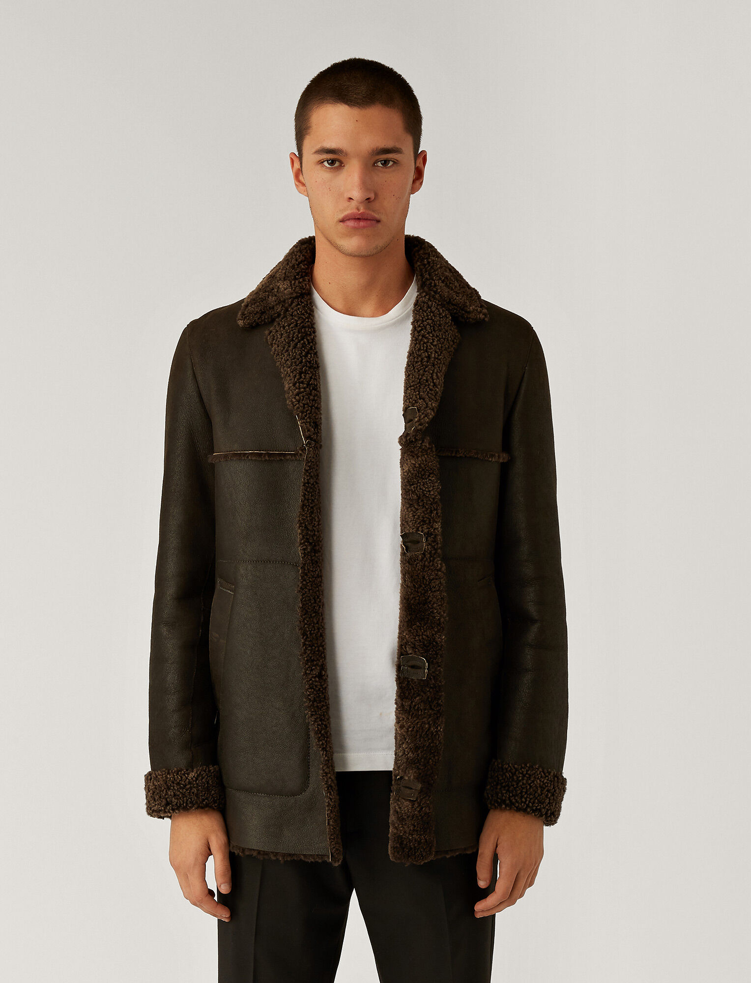 Joseph, Manteau en peau de mouton, in Brown