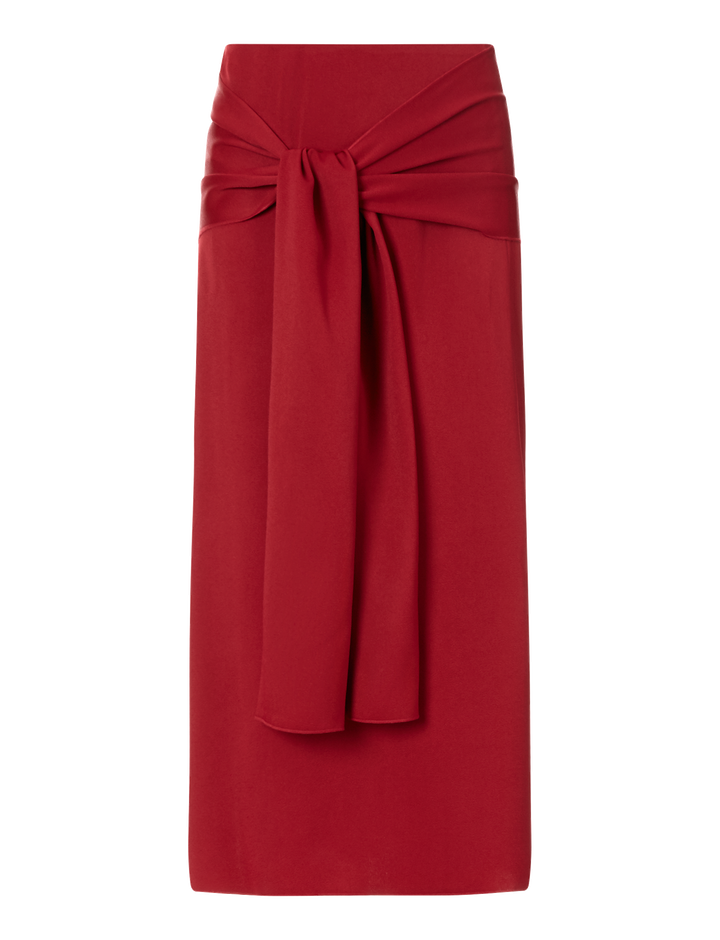 Joseph, Renne Light Cady Skirt, in RUBY