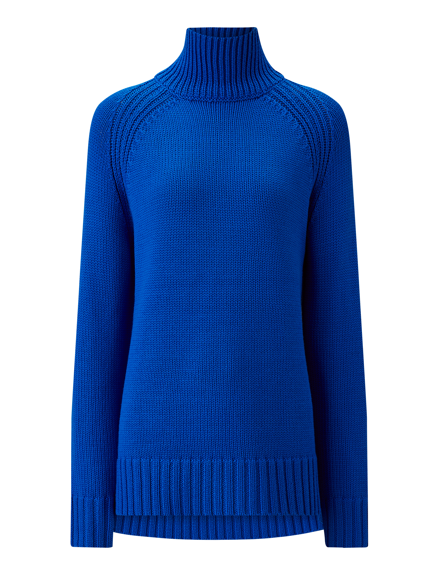 Joseph, New High Neck Sloppy Joe Knit, in PLASTIC BLUE