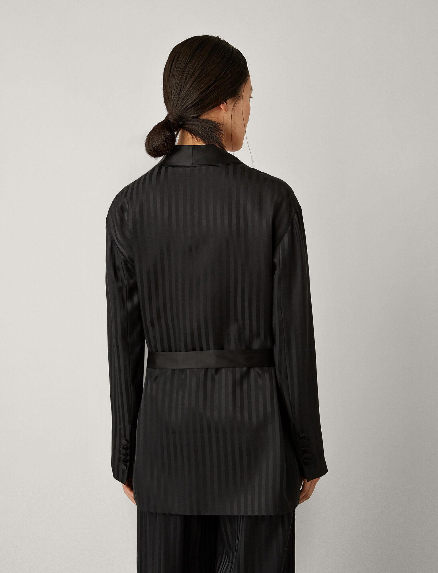 Joseph, Nash Pyjama Silk Jacquard Jacket, in BLACK
