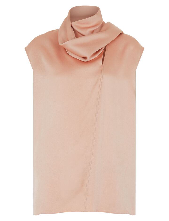 Joseph, Birley Top Crepe Satin Blouse, in FOUNDATION
