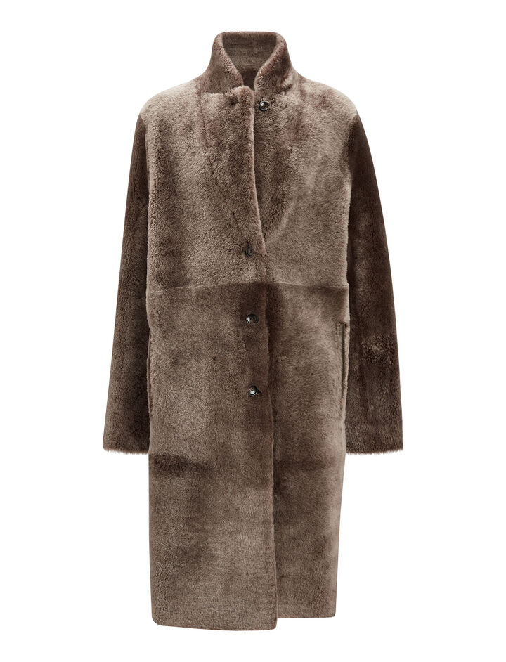 Joseph, Brittanny Polar Skin Coat, in DARK MARBLE