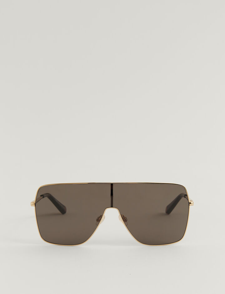 Joseph, OVERSIZED D-FRAME SUNGLASSES, in BLACK