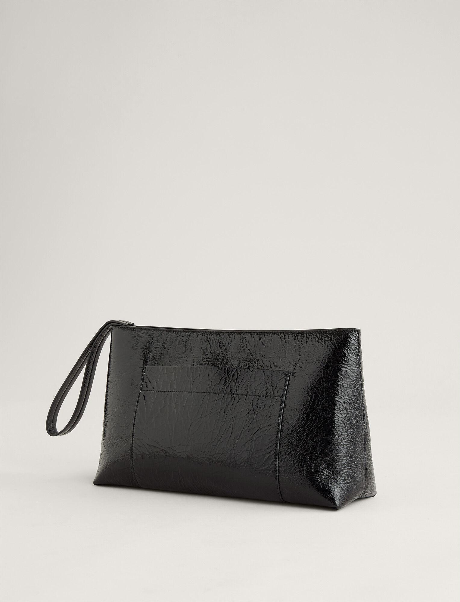 Joseph, Westbourne Clutch Leather Bag, in BLACK