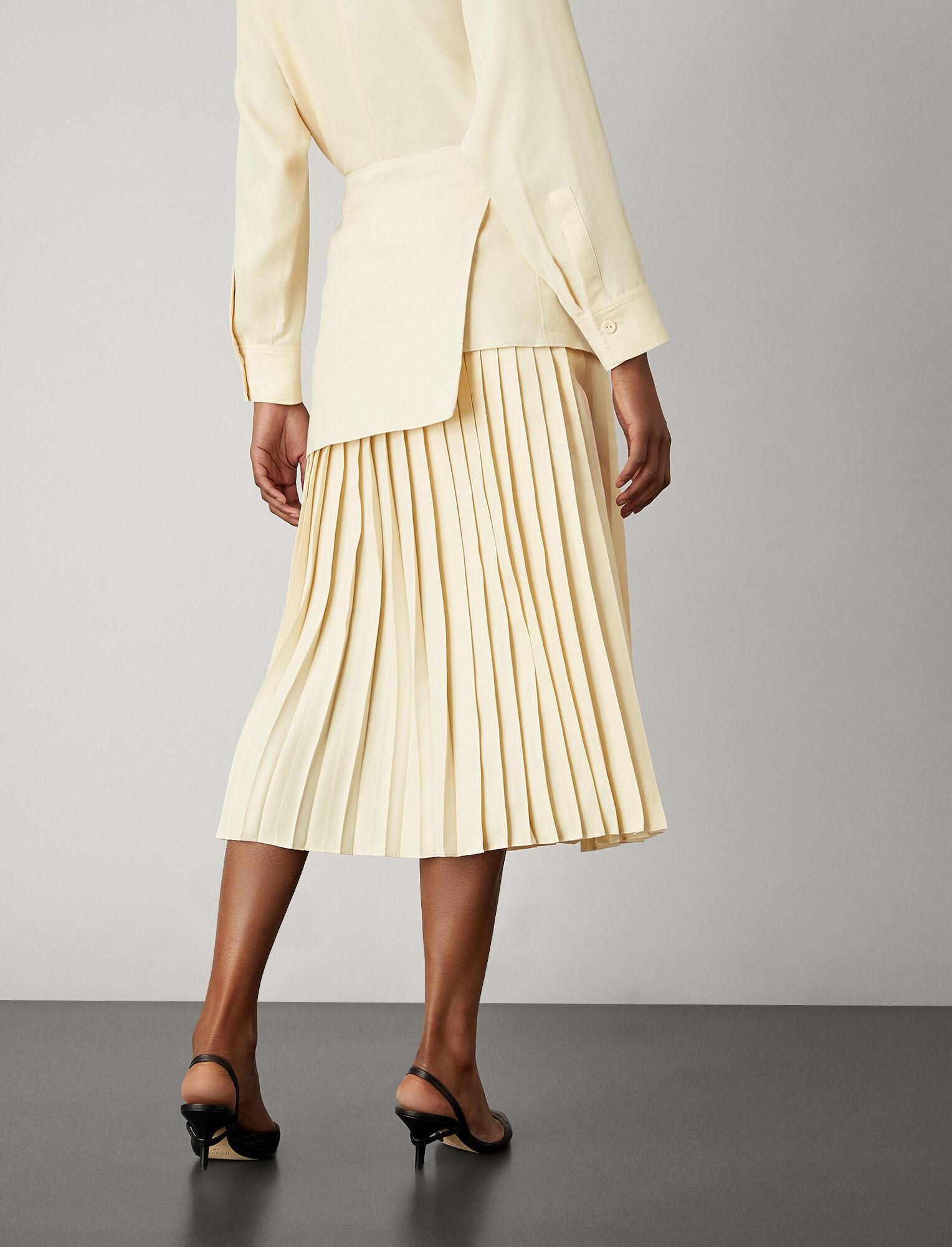 Joseph, Billie Boucle Fuji Silk Skirt, in BONE