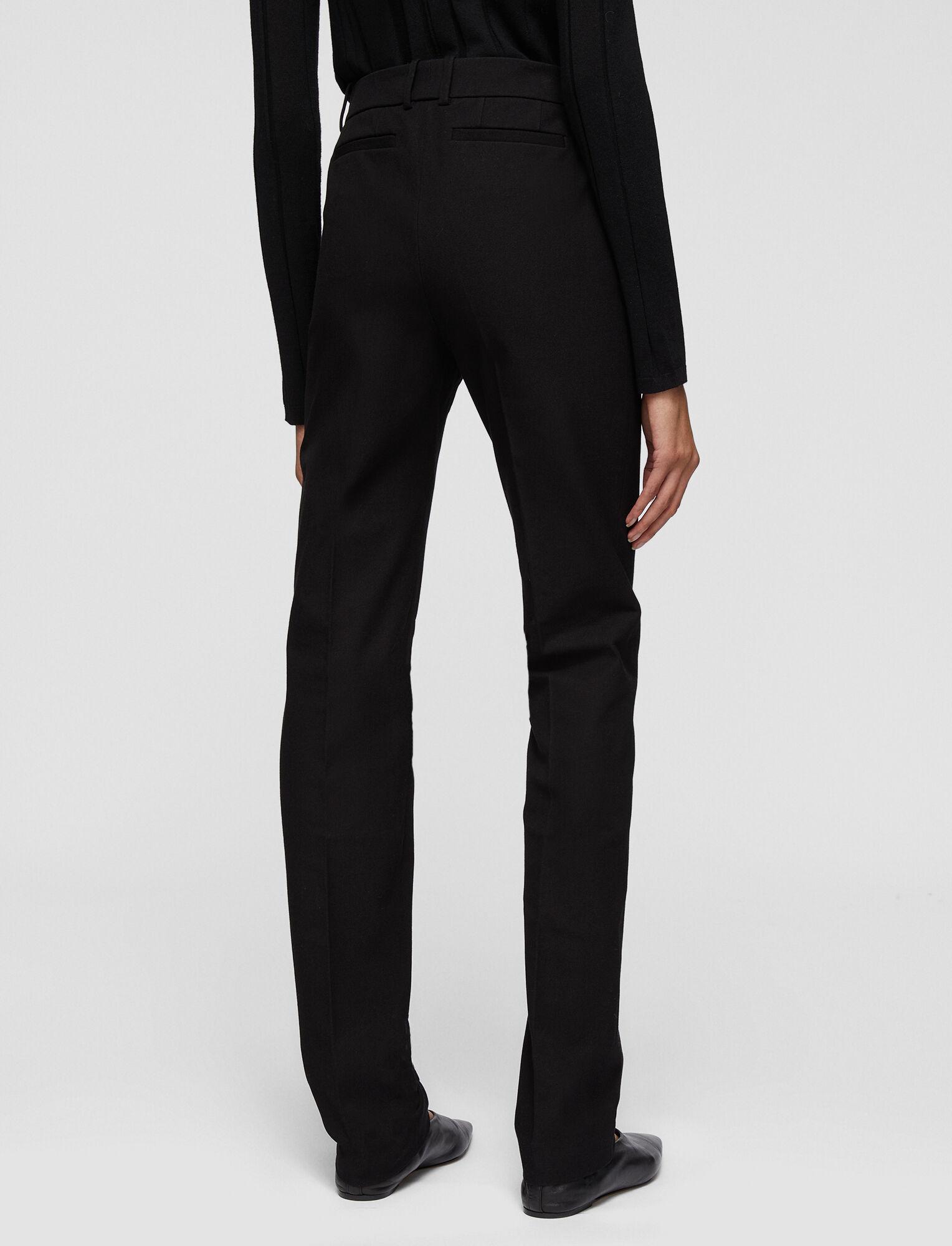 Joseph, Cole Gabardine Stretch Trousers, in BLACK