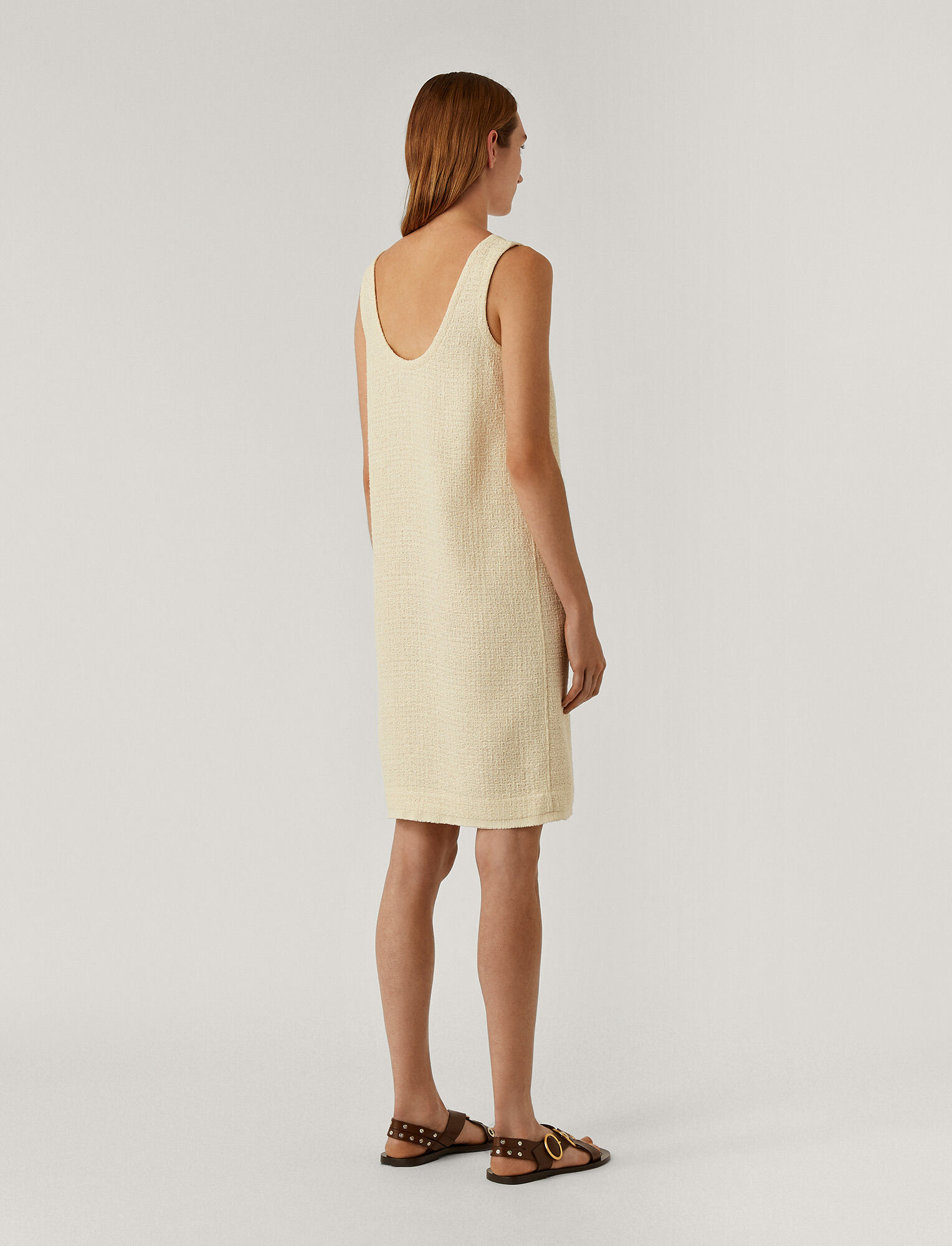 Joseph, Dria Tweed Dress, in CREAM