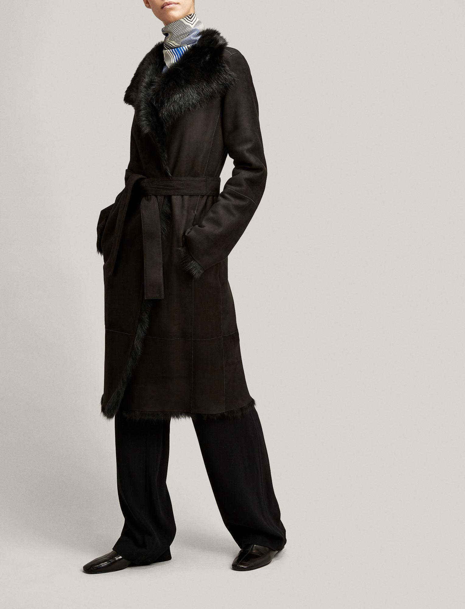 Joseph, Long Hair Toscana Lima Sheepskin, in BLACK