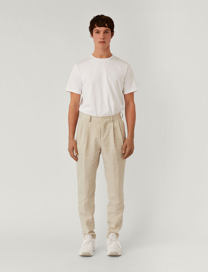 Joseph, Murine Hemp Twill Teddy Trousers, in LIGHT GREY