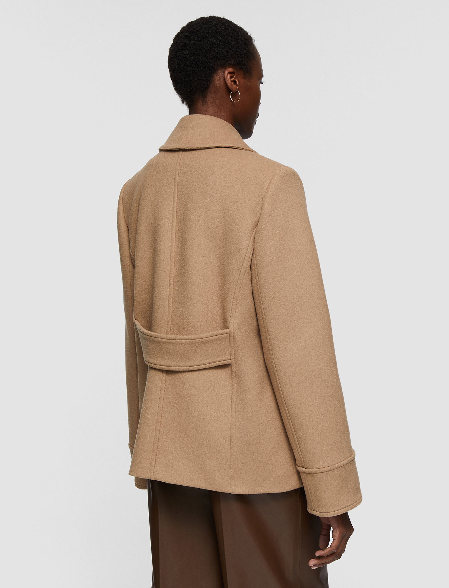 Joseph, Wool Coating Jagger Coat, in Camel