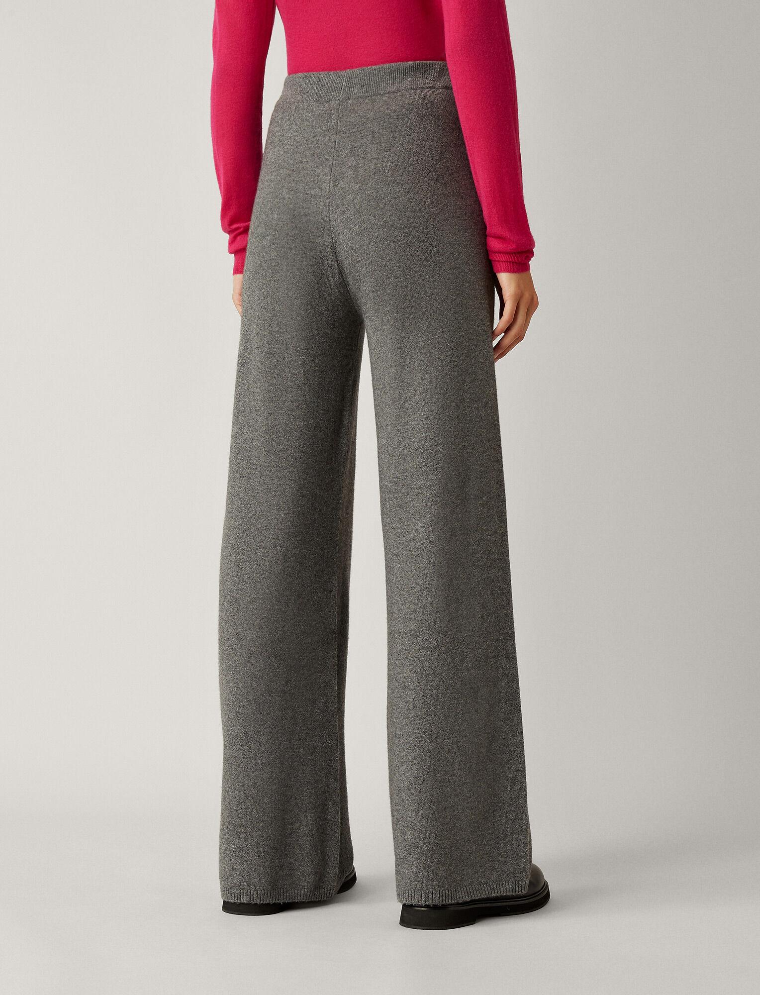 Joseph, Wool Cashmere Knit Trousers, in DARK GREY
