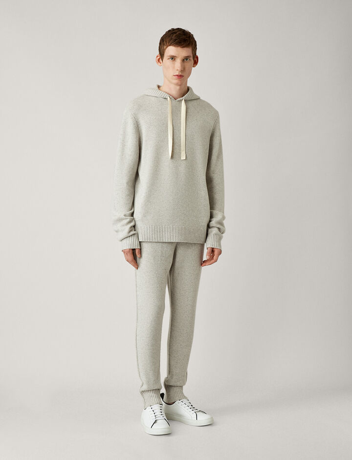Joseph, Hoody-Pure Cashmere, in PEARL