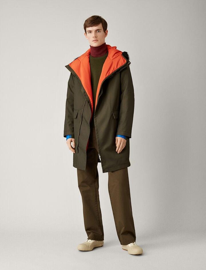 Joseph, Astor Textured Nylon Coat, in FOREST