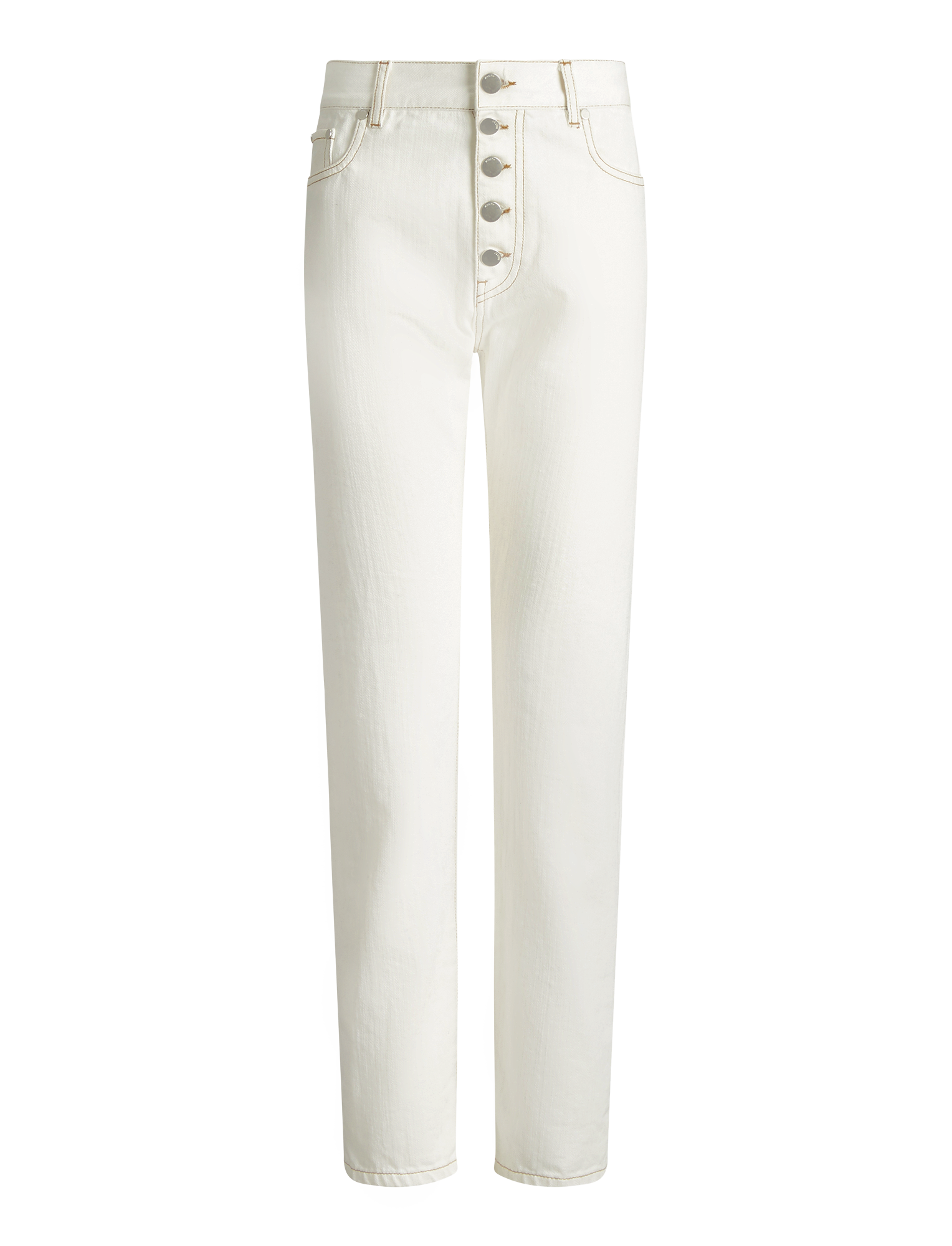 Joseph, Pantalon Den en denim, in WHITE