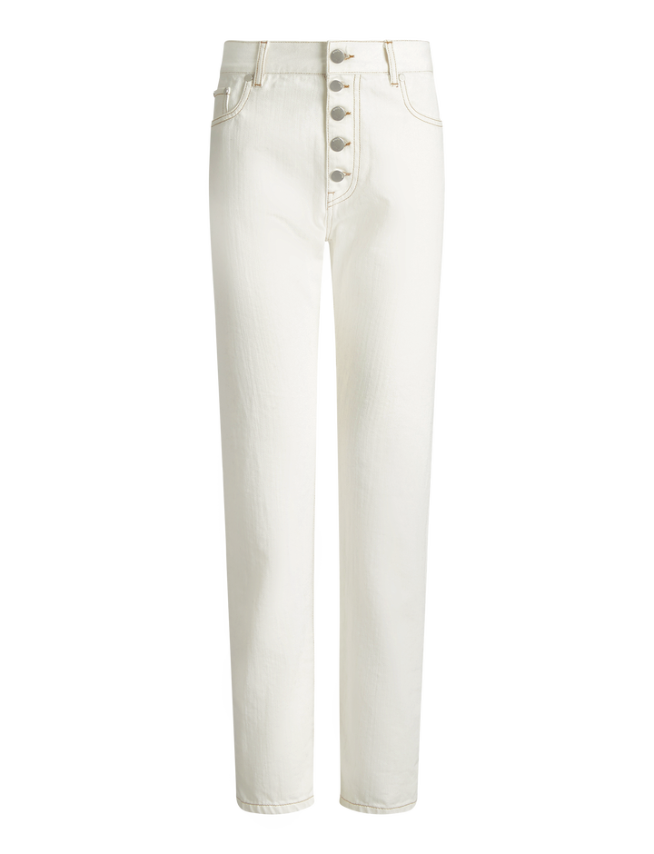 Joseph, Den White Denim Trousers, in WHITE