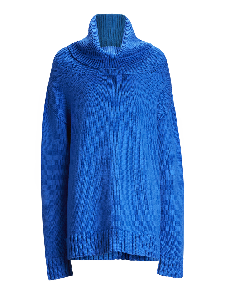 Joseph, O'size Sloppy Joe Knit, in PLASTIC BLUE