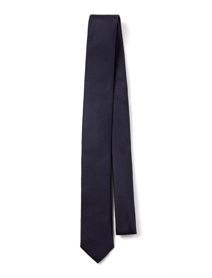 Joseph, Ribbed Silk Tie, in NAVY