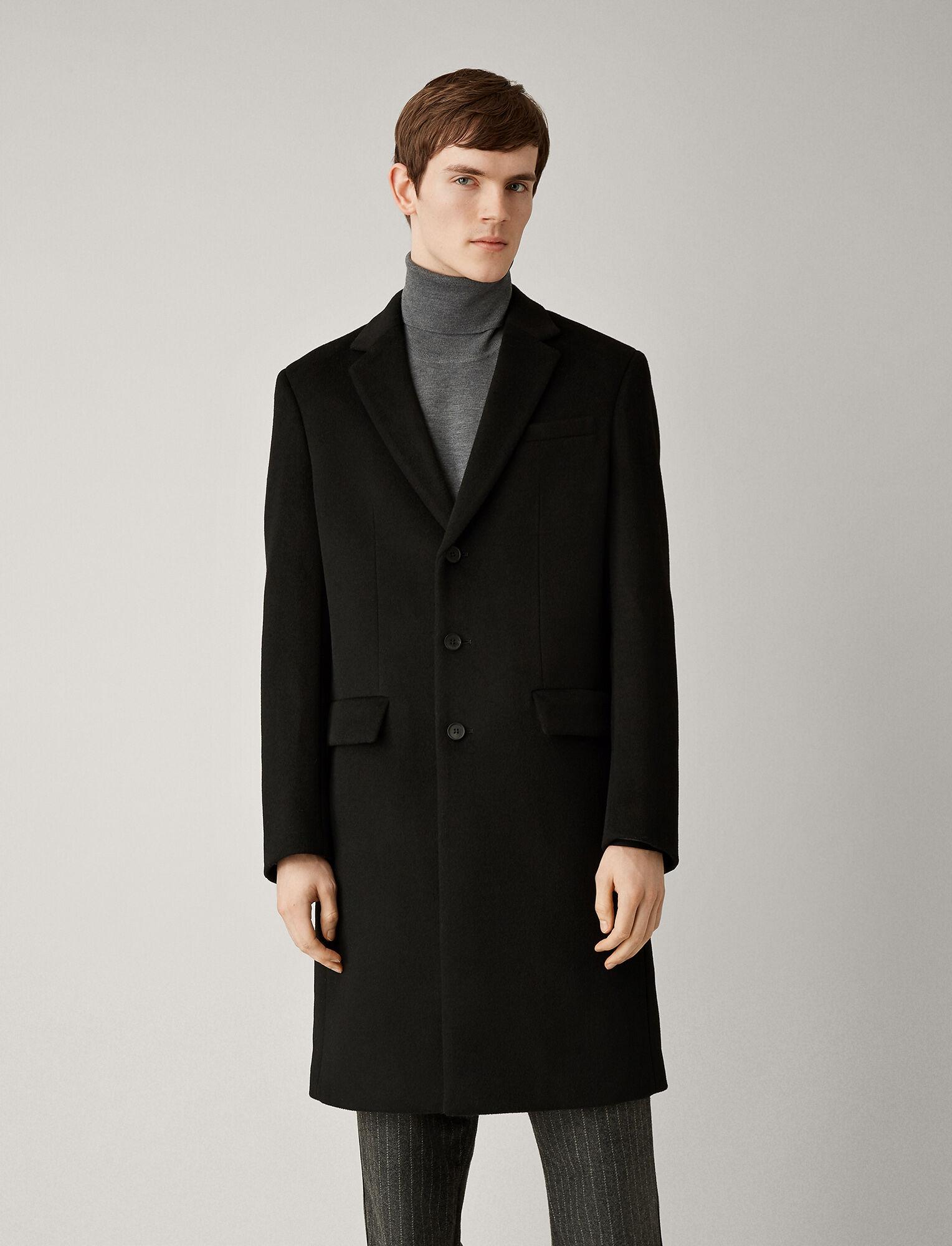 Joseph, London Wool Coat, in BLACK