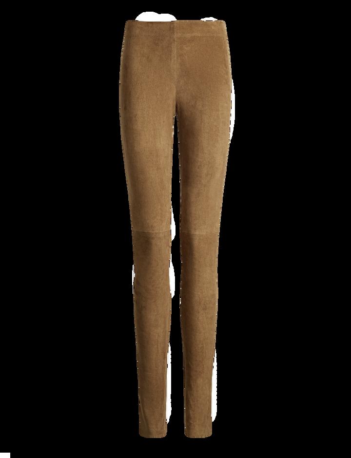 Joseph, Suede Stretch Legging, in SANDALWOOD