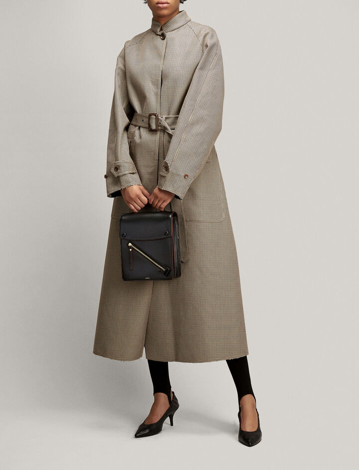 Joseph, Zone Mini Dogtooth Coat, in BEIGE