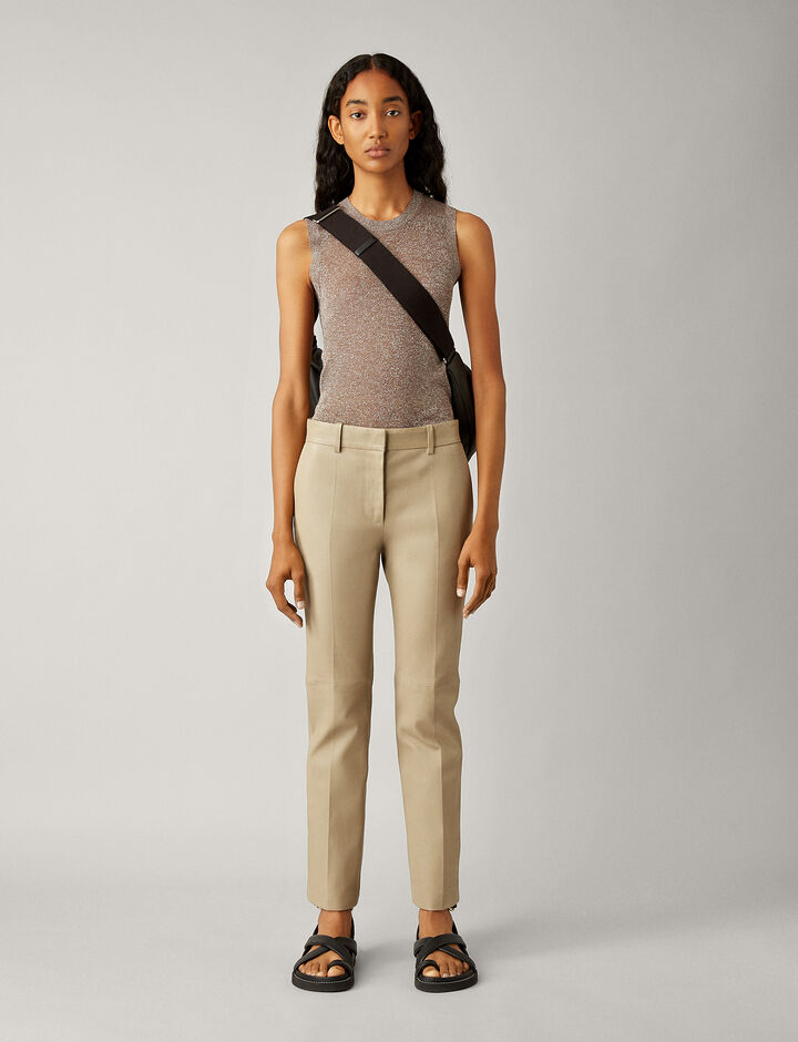 Joseph, Coleman-Leather Stretch, in SAND