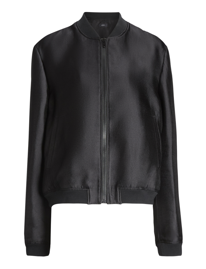 Joseph, Panther Dupion Viscose Jacket, in BLACK