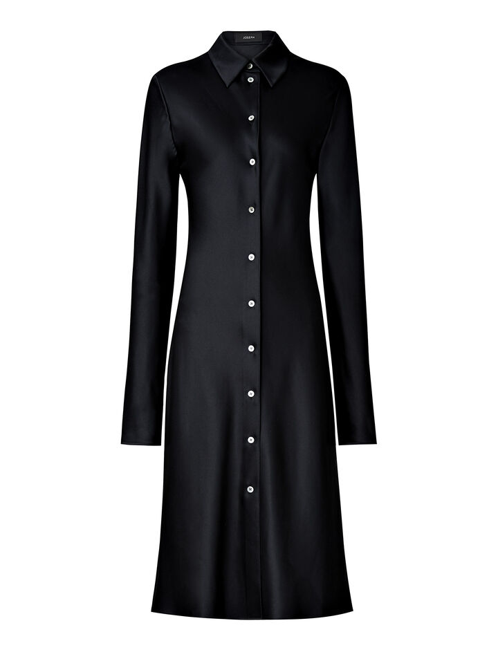 Joseph, Calum Satin Double Face Dress, in BLACK