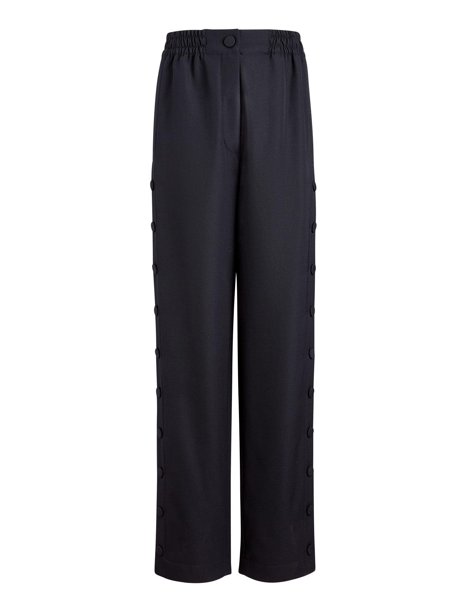 Joseph, Odon Fluid Wool Trousers, in NAVY