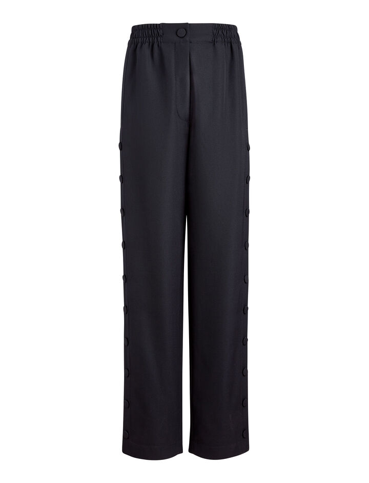 Joseph, Odon Fluid Wool Trousers, in NAVY