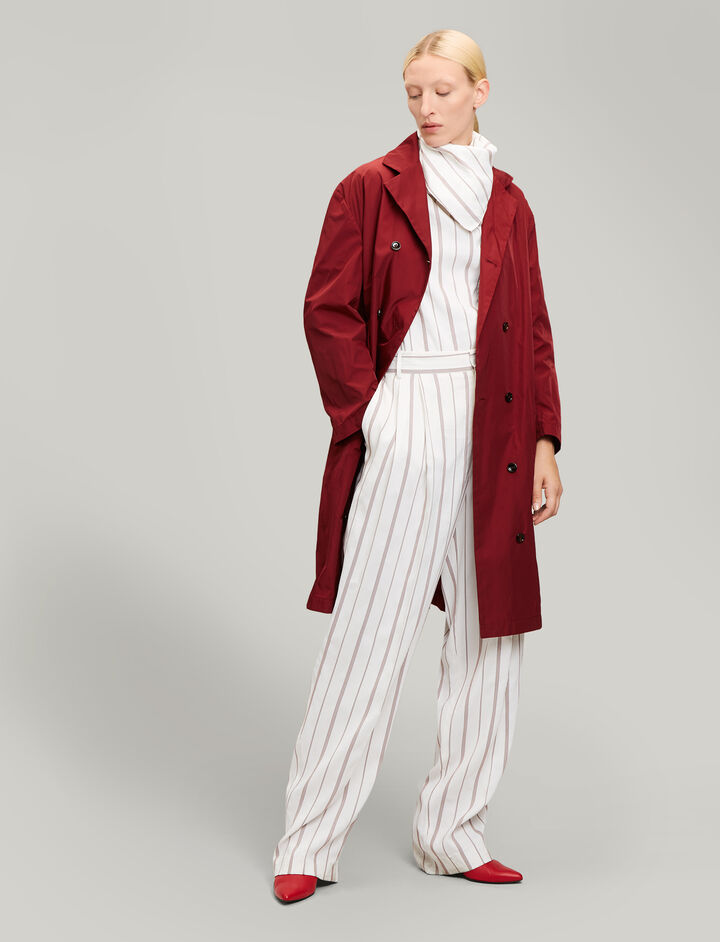 Joseph, Richter Taffeta Nylon Coat, in CLARET